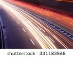 light trails of moving cars on... | Shutterstock . vector #331183868
