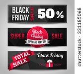 black friday sale black... | Shutterstock .eps vector #331185068