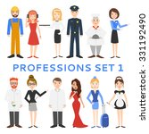 professions  uniforms  job. set ... | Shutterstock .eps vector #331192490