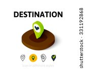 destination icon  vector symbol ...