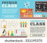 physics class and chemistry... | Shutterstock . vector #331195370