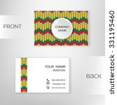 business card template with... | Shutterstock .eps vector #331195460