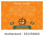 happy halloween poster | Shutterstock .eps vector #331196063