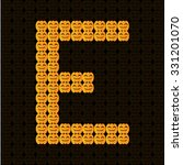 e  alphabet on halloween theme | Shutterstock .eps vector #331201070