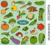color set with vegetables ... | Shutterstock .eps vector #331206956