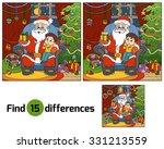 find differences game  santa... | Shutterstock .eps vector #331213559