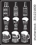 set of beer typography vintage... | Shutterstock .eps vector #331221830