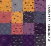 set of halloween backgrounds.... | Shutterstock .eps vector #331240094