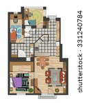 colorful floor plan of modern... | Shutterstock .eps vector #331240784