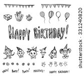set of birthday party elements | Shutterstock . vector #331240820