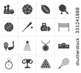 black sport equipment icons  ... | Shutterstock .eps vector #331241888