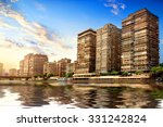 Buildings Of Cairo On The Bank...