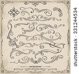calligraphic elements and page... | Shutterstock .eps vector #331244534