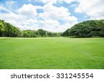 green grass field in big city... | Shutterstock . vector #331245554