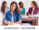 group young people  students... | Shutterstock . vector #331246388