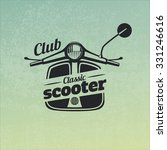 classic scooter emblem on... | Shutterstock .eps vector #331246616