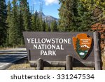 yellowstone national park sign | Shutterstock . vector #331247534