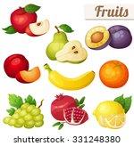 set of cartoon food icons.... | Shutterstock .eps vector #331248380