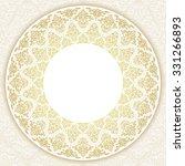 decorative ornate round frame... | Shutterstock .eps vector #331266893