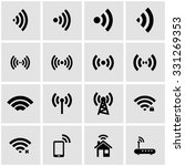 vector black wireless icon set... | Shutterstock .eps vector #331269353