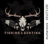 hunting and fishing vintage... | Shutterstock .eps vector #331271150