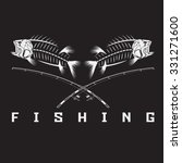 vintage fishing emblem with... | Shutterstock .eps vector #331271600