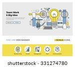 flat line design of web banner... | Shutterstock .eps vector #331274780