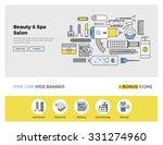flat line design of web banner... | Shutterstock .eps vector #331274960