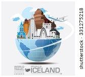 iceland landmark global travel... | Shutterstock .eps vector #331275218