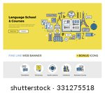 flat line design of web banner... | Shutterstock .eps vector #331275518