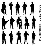 silhouettes of handyman set... | Shutterstock .eps vector #331275998