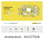 flat line design of web banner... | Shutterstock .eps vector #331277018