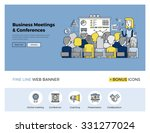 flat line design of web banner... | Shutterstock .eps vector #331277024