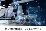 double exposure of businessman... | Shutterstock . vector #331279448
