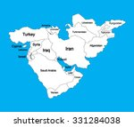 editable blank vector map of ... | Shutterstock .eps vector #331284038