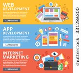 web development  mobile apps... | Shutterstock . vector #331286300