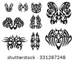 set of 9 different vector...