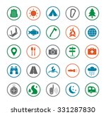 camping icons set. survival and ... | Shutterstock . vector #331287830