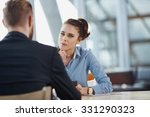 job interview recruiter listen... | Shutterstock . vector #331290323