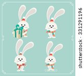 set of cute christmas character.... | Shutterstock .eps vector #331291196