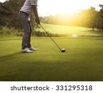 man playing golf | Shutterstock . vector #331295318