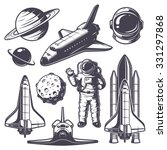 set of vintage space elements.... | Shutterstock .eps vector #331297868