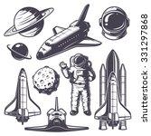 Set Of Vintage Space Elements....