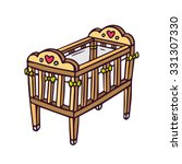 baby crib  bright vector... | Shutterstock .eps vector #331307330