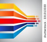 minimal infographic design ... | Shutterstock .eps vector #331313330