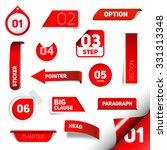 set of red vector progress step ... | Shutterstock .eps vector #331313348