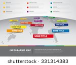 world map illustration and... | Shutterstock .eps vector #331314383