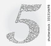 number five . | Shutterstock .eps vector #331314698