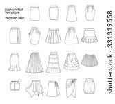 set of fashion flat templates... | Shutterstock . vector #331319558