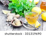 herbal tea with lemon and... | Shutterstock . vector #331319690
